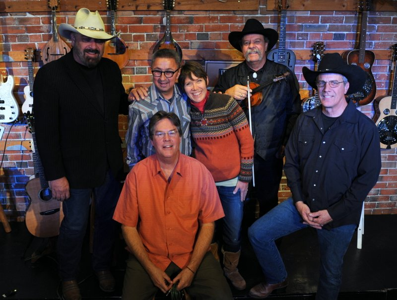 back: Jon Chandler, Ernie Martinez, Mary Gifford, Johnny Neill, Jeff Graves;  front: Kit Simon