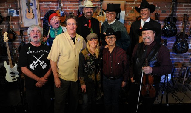 "back: Timothy P Irvin, Jon Chandler, Al ""Doc"" Mehl, Jeff Graves;  front: Dana Vernon, Kit Simon, Mary Huckins, Johnny Neill"