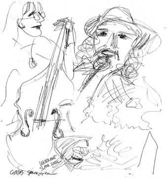 Djypsy Grass sketch with Armando: Bands, Singers, Songwriters / Composers, Solo Performers, Sidemen, Instrumentalists, Performers, Entertainers, Musicians, Cowboy Poets