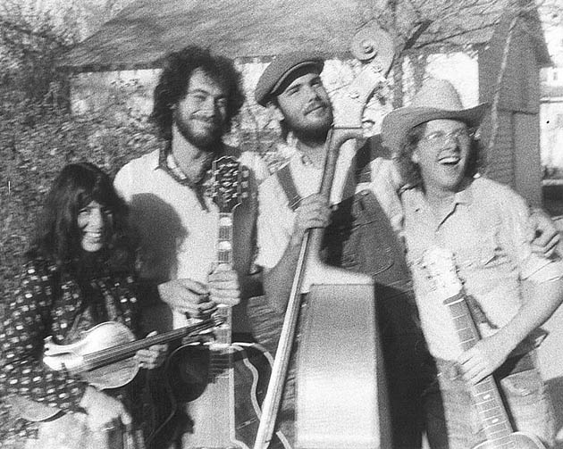 Duane Webster with the Ophelia Swing Band including Linda Joseph, Dan Sadowski and Tim O'Brien, approx. 1973