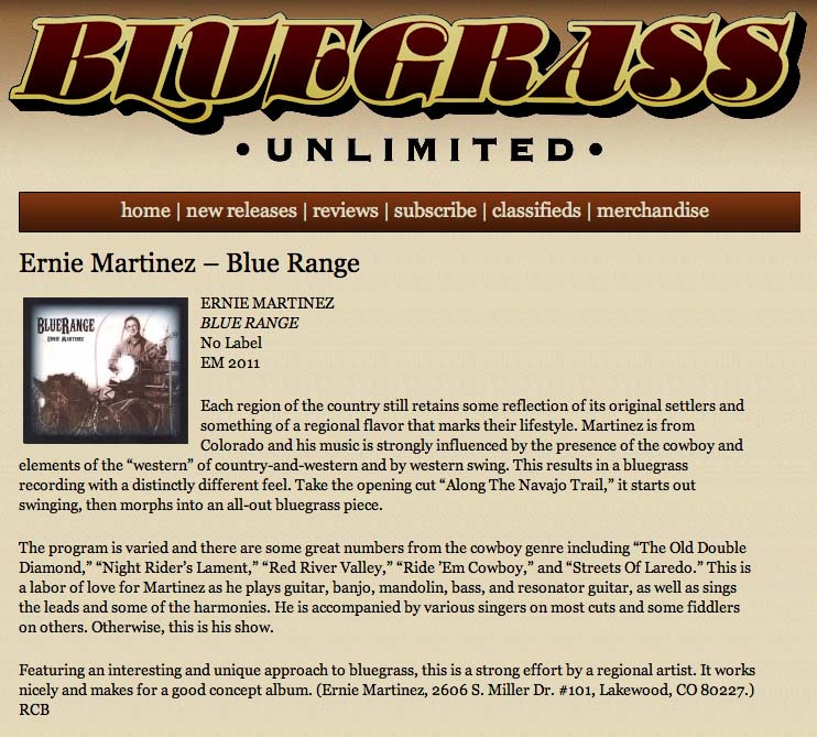 Bluegrass Unlimited CD review