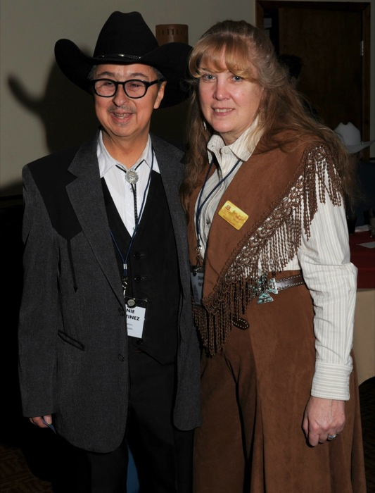 Ernie with Diana Raven, Colorado Cowboy Gathering, Jan. 2014
