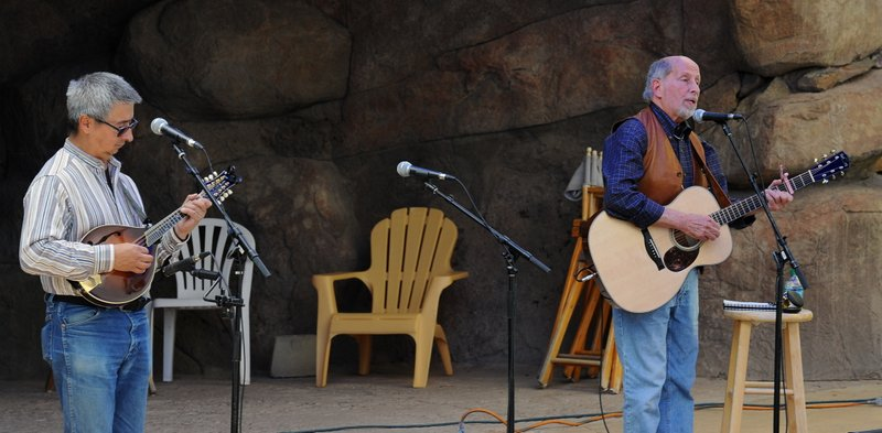 Ernie Martinez at HIgh Peaks Music Festival Sept 2014 with Harry Tuft