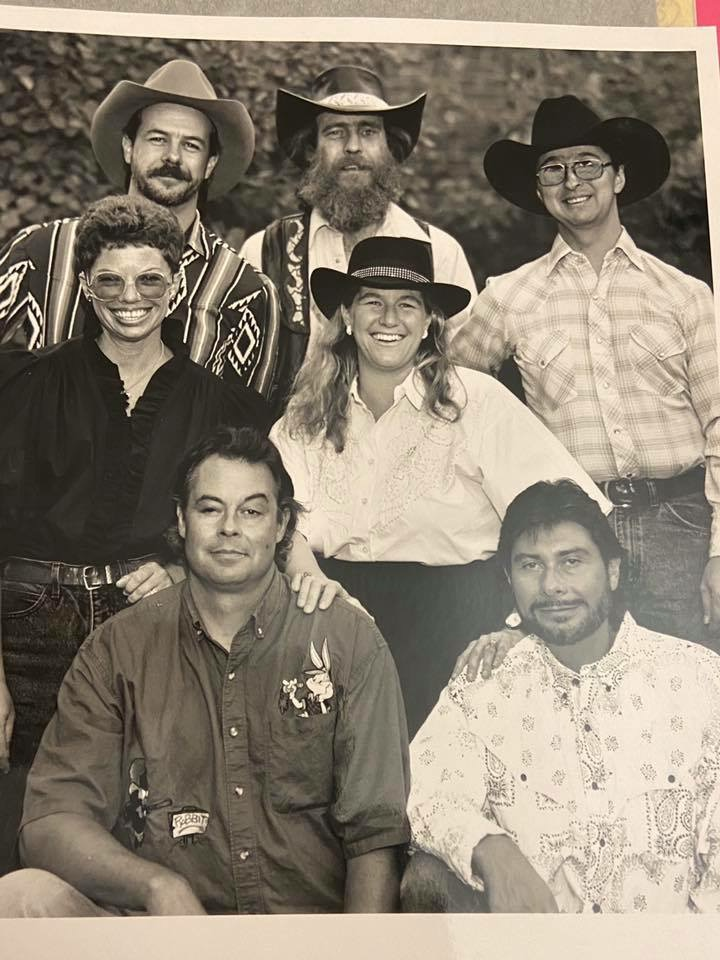 Trigger Finger  L to R Back: Tom Gould, Ed Church, Ernie Martinez;  Middle: Suzy Lewis, June McHugh; Front: Chris Whitebread, David Rodriguez