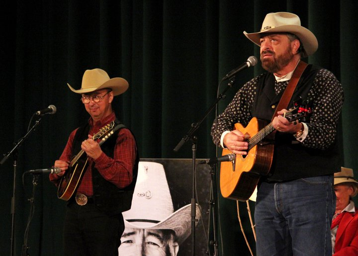 Ernie with Jon Chandler at the                                   Colorado Cowboy Gathering