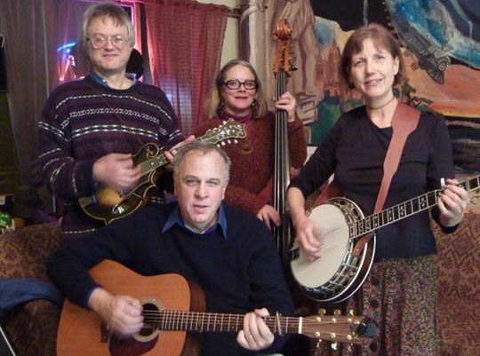Rose City Bluegrass with Peter Schwimmer plus banjoist Gretchen Amann, guitarist Charlie Williamson, and bassist Sherry Pendarvis