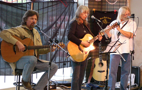 Rick McGregor, Sandy Reay, Jeff Ingram perform at Acoustic Music Revival